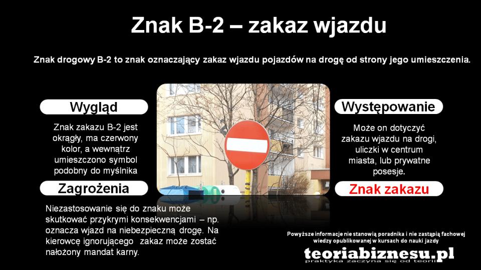 znak zakazu b2