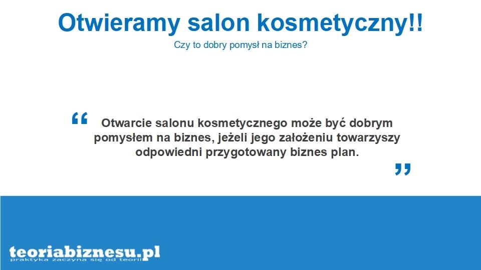 Salon kosmetyczny jako pomysł na biznes