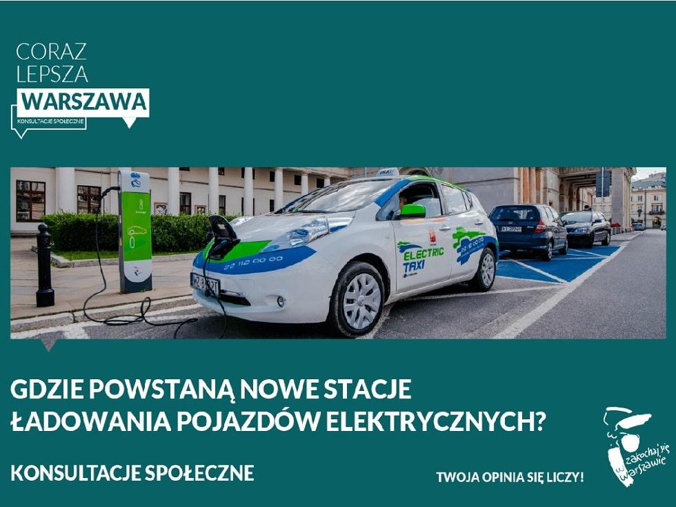 warszawa - stacje ładowania pojazdów elektrycznych