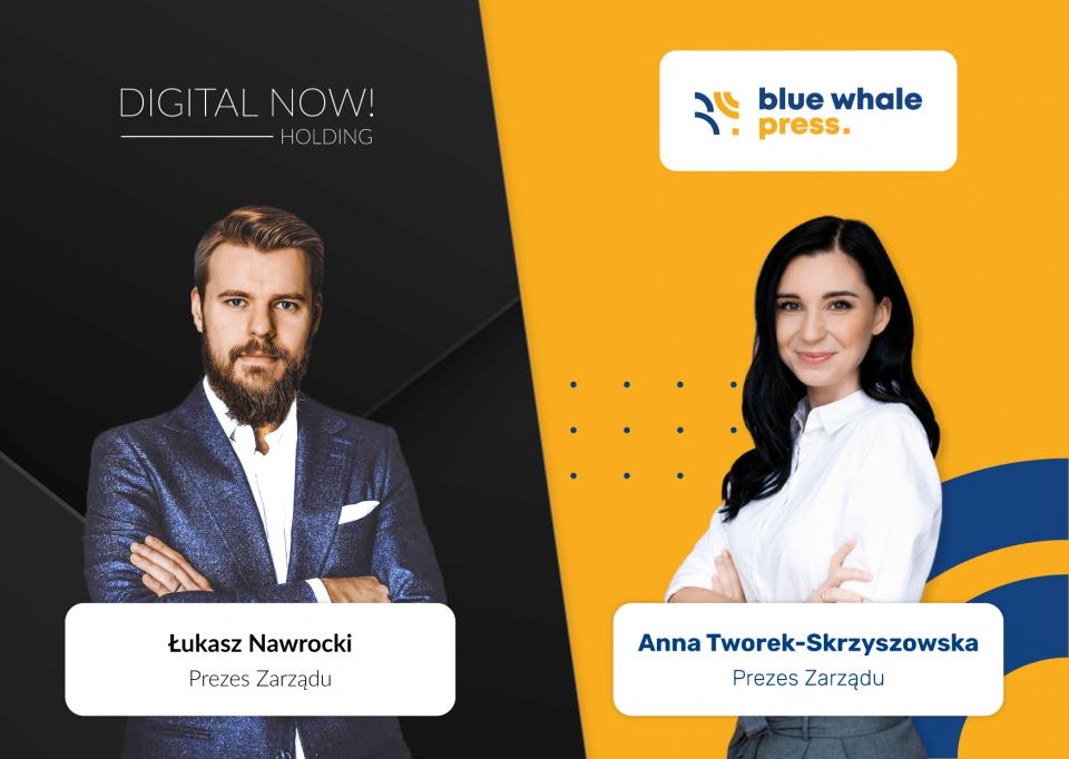 Digital Now! inwestuje w Blue Whale Press