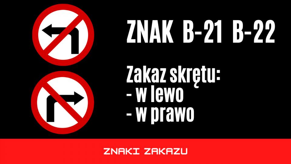 znak b21 b22