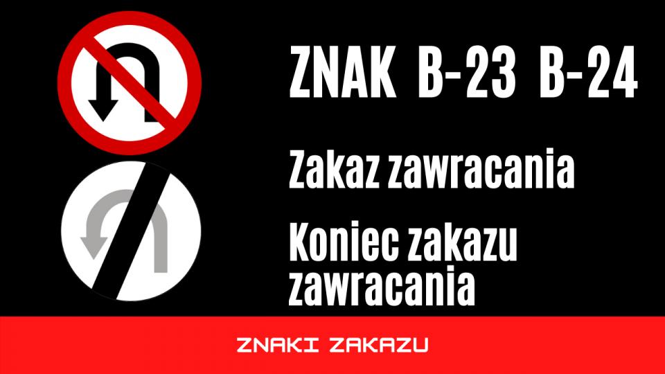 znak b23 b24