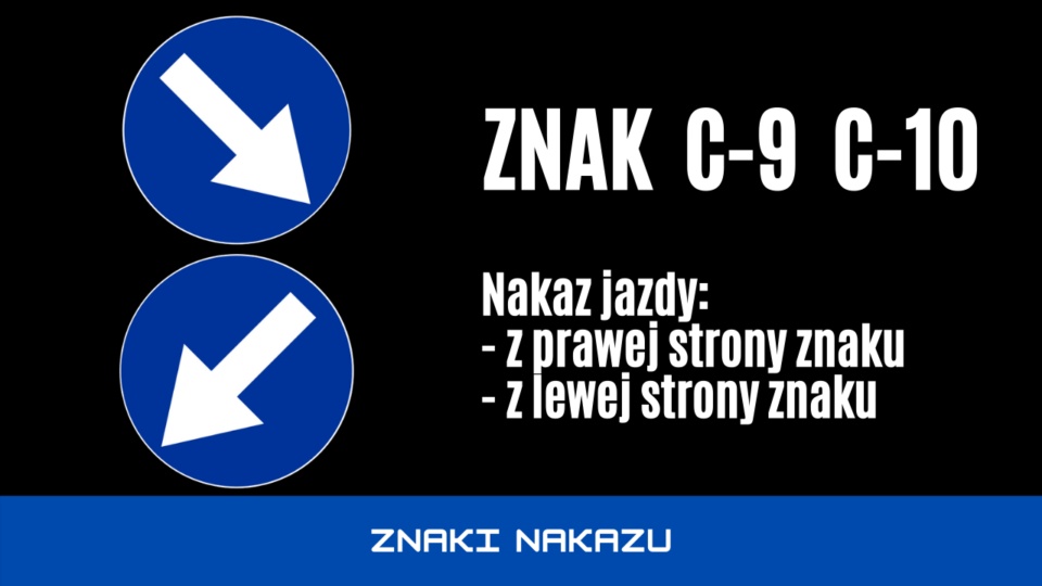 znak drogowy c9 i c10